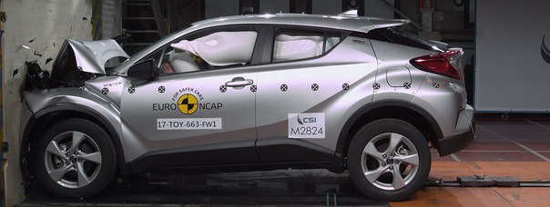 Crash Test Euro NCAP 2017: Toyota C-HR a 5 stelle davanti a tutte
